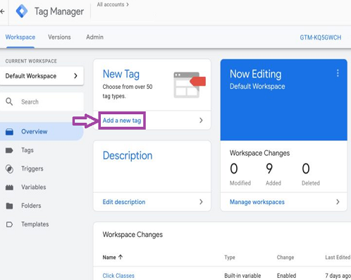 Connect Google Analytics, GTM and Search Console