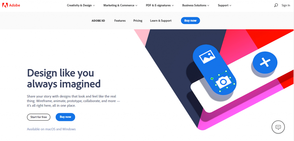 Adobe XD - Professional Web Design Software Tools