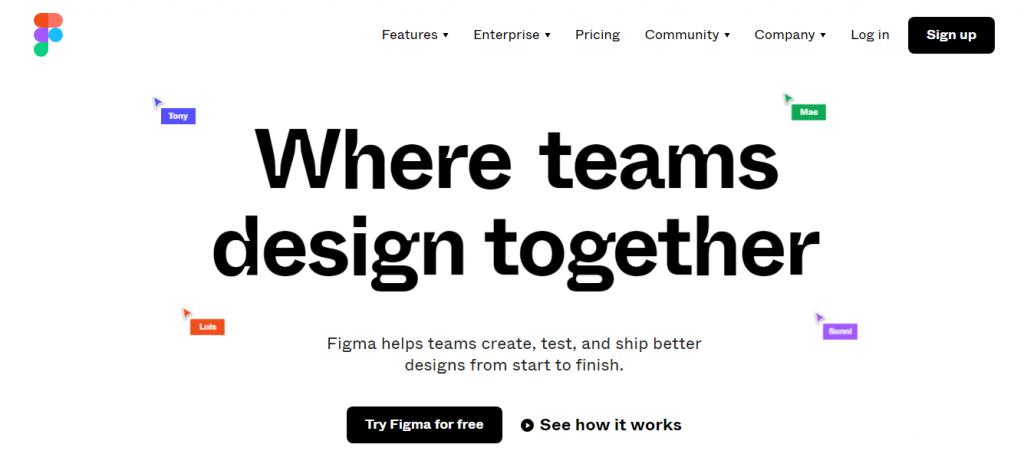 Figma - Professional Web Design Software Tools